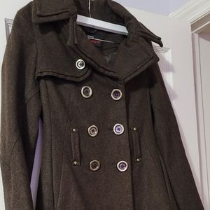 M60 Miss Sixty Brown Coat - X-Small
